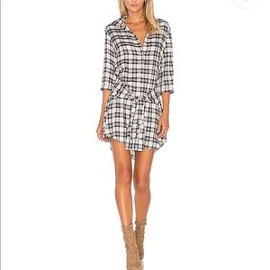 BB Dakota plaid shirt dress